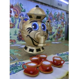 Ростовая кукла Самовар с чашками