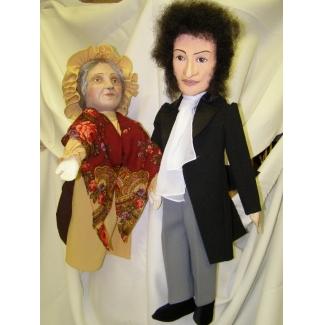 Куклы перчаточные Пушкин и Няня