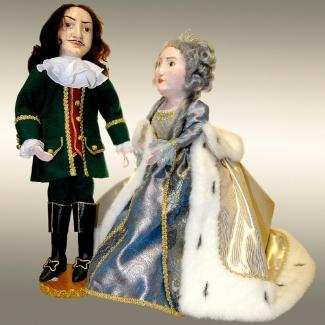 Куклы перчаточные Петр и Екатерина (набор)
